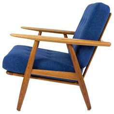 Hans J. Wegner Oak GE-240 Cigar Chair, 1955