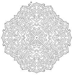 Mandala 583 Mazes Coloring Book Dover Publications