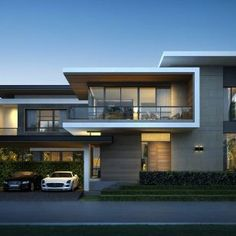 5 Handsome Clever Tips: Modern Contemporary Color Scheme contemporary house ranch. Villa Design, Facade Design, Exterior Design, Archi Design, 3d Design, House Front Design, Modern House Design, Style At Home, House Elevation
