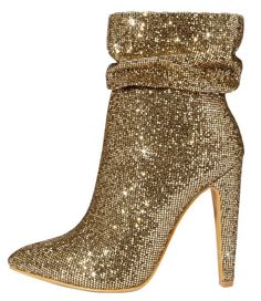 c0831b81238d Sparkle Gold Boots. Bling Party
