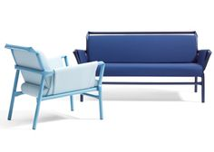 Osko+Deichmann extends kinked steel furniture range for Blå Station