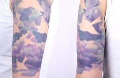 watercolor bird in cloud tattoo - 40 Awesome Cloud Tattoo Designs Trendy Tattoos, New Tattoos, Tattoos For Women, Cool Tattoos, Tatoos, Painting Tattoo, Tatoo Art, Watercolor Tattoos, Watercolor Bird