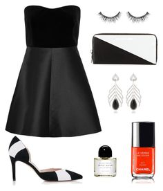 """""""Black & White and Red Carpet."""" by marykatetus on Polyvore featuring RED Valentino, L.K.Bennett, Marc by Marc Jacobs, Elise Dray, Sephora Collection and Byredo"""