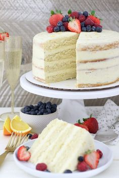 Whether youre celebrating the holidays or not this Mimosa Cake will be a crowd pleaser. This cake is a moist champagne sponge cake with an orange Swiss meringue buttercream frosting. Healthy Cake Recipes, Sponge Cake Recipes, Best Cake Recipes, Cupcake Recipes, Sweet Recipes, Cupcake Cakes, Dessert Recipes, Sponge Cake Recipe Best, Favorite Recipes