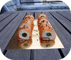 See original image Salty Foods, Yummy Food, Tasty, Avocado Toast, Mousse, Entrees, Sushi, Salmon, Menu