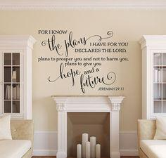 Bible Verse Wall Decal Christian Wall by AmandasDesignDecals
