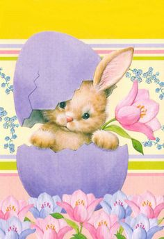 Cute bunny hatching from an Easter egg Easter Art, Easter Crafts, Easter Bunny Pics, Ostern Wallpaper, Easter Illustration, Easter Pictures, Easter Parade, Bunny Art, Easter Projects