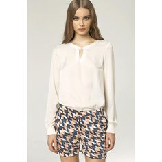 Ecru Blouse With Long Sleeves LAVELIQ