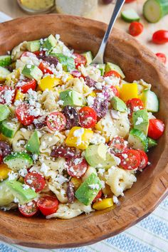 Mediterranean Avocado Tortellini Pasta Salad | Closet Cooking