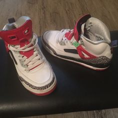 Retro Jordan's Youth Size Excellent Condition. Only worn a few times. Jordan Shoes Sneakers
