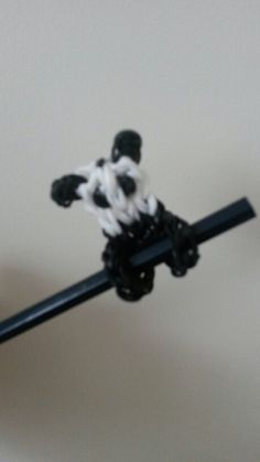 Panda loom band pencil hugger