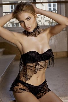 """Jean Paul Gaultier, who was made famous in lingerie circle´s for inventing Madonna's """"rocket cone-bra"""", is launching his first ever collection for the luxury Italian lingerie brand, La Perla. Description from luxurylingerieonline.com. I searched for this on bing.com/images"""