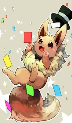 Eevee- he's energetic, happy, and loves to play. He really doesn't care what he evolves into, because he cares about what other needs, not him.