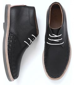 Bakers' shoes... they are formal but not classy to be dress shoes worn with slacks... nicer work shoes...The mismatched textured and pop of color go with my middle class theme