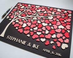 Wedding Guest Book 3D Alternative Wedding por HAPPYprojectSHOP