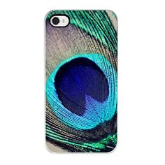 iPhone 4 Case - iphone 4s cover case custom iphone case Macro Abstract Photograph - peacock feather bird animal blue green brown. $28.00, via Etsy.