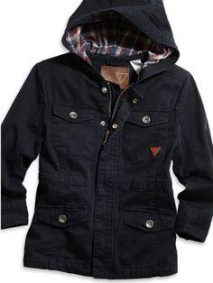 GUESS Kids Boys Little Boy Parka Jacket Plaid, « Clothing Impulse