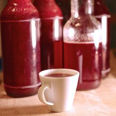 Recipe for raspberry syrup, boil down, deliciously simple and homemade – Holidays Non Alcoholic Drinks, Cocktail Drinks, Cocktails, Chutneys, Smoothie Drinks, Smoothie Recipes, Yummy Drinks, Healthy Drinks, Cherry Liqueur