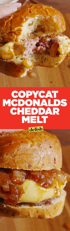 The McDonald's Cheddar Melt is back! Sort of ... Get the recipe on Delish.com.