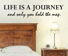 Life is a Journey And Only You Hold the Map - Inspirational Motivational Inspiring - Wall Decal Decor, Vinyl Quote Design Sticker, Saying Lettering, Art Decoration Decals for the Wall http://www.amazon.com/dp/B0064W0BYI/ref=cm_sw_r_pi_dp_QzBYtb1CH7PJFCAS