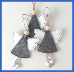 In this DIY tutorial, we will show you how to make Christmas decorations for your home. The video consists of 23 Christmas craft ideas. Christmas Ornament Crafts, Christmas Sewing, Felt Ornaments, Christmas Projects, Felt Crafts, Christmas Crafts, Homemade Christmas, Christmas Diy, Angel Decor