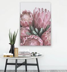Mixed Media Art Auctions – Buy Abstract Art Right Art Mural Rose, Abstract Wall Art, Canvas Wall Art, Wall Art Prints, Canvas Paper, Protea Art, Protea Flower, White Wall Art, Pink Wall Art