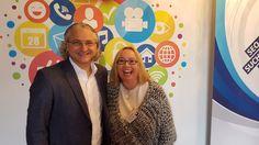 Michael Kohlfürst und Andrea Starzer von PromoMasters am Stand des Karriereforum Salzburg zum Social Media Quick Check für BewerberInnen und Unternehmen. #karriereforumsalzburg