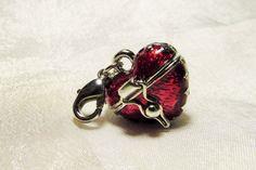 Heart Locket Charm for Bracelet or Key Chain. by ValerinaFelting