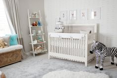 3 Simple Steps to a Gender-Neutral Nursery | Wayfair. Like the wallpaper with lt gray walls for bedroom.