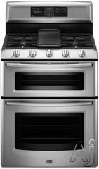 """Maytag Gemini Series MGT8885X  30"""" Double Oven Gas Range with Griddle Burner"""
