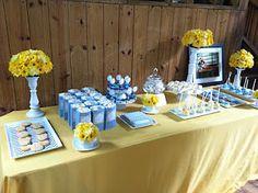 BLUE & YELLOW bridal shower