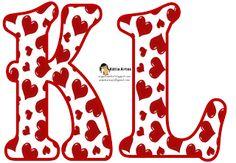 Alfabeto relleno con corazones rojos. Cute Letters, Bubble Letters, Alphabet Style, Alphabet And Numbers, Hand Lettering Fonts, Creative Lettering, Alfabeto Graffiti, Surprise Party Decorations, Valentine's Day Letter