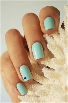 Pretty in Pastels #nails #blue #inspiration