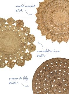 MUST HAVE FOR THE HOME :: THE ROUND JUTE RUG   Coco+kelley