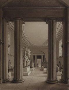 British Museum c.1840    Interior view of the British Museum...