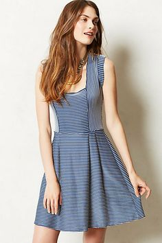 I like the shape and the panels.  A good style for woven fabric. Lilith Dress #anthropologie