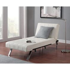 Emily Futon Chaise Lounger, Multiple Colors - Walmart.com (change out the legs with nice wooden ones)