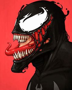 Do you like super heroes? Especially from Marvel. Mike Mitchell an artist in Austin, TX has created an inspiring series of 50 Marvel character portraits. Marvel Comics, Marvel Venom, Bd Comics, Marvel Heroes, Comic Book Characters, Comic Book Heroes, Marvel Characters, Comic Character, Comic Books Art