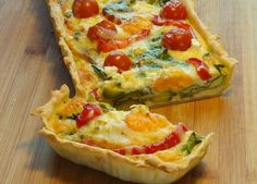 Summer Vegetable & Egg Tart