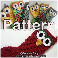 Ravelry: Crochet Owl Stocking pattern by Michele Gaylor Crochet Christmas Stocking Pattern, Crochet Stocking, Holiday Crochet, Christmas Knitting, Crochet Gifts, Free Crochet, Knit Crochet, Ravelry Crochet, Crochet Owls