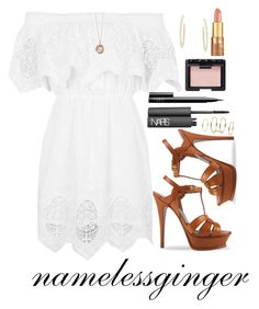 """""""untitled #181"""" by namelessginger ❤ liked on Polyvore featuring Topshop, Yves Saint Laurent, Gracelette Nyc, Monica Rich Kosann, NARS Cosmetics, tarte and BCBGMAXAZRIA"""