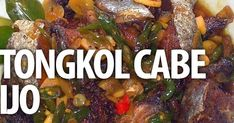 Tongkol Cabe Ijo My Favorite Food, Favorite Recipes, Indonesian Food, Seafood, Food And Drink, Cooking Recipes, Fish, Meat, Indonesian Language