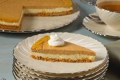 The perfect end your Thanksgiving meal - Kidney-friendly Pumpkin Layer Cheesecake.