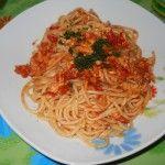 i miei spaghetti al ragù di pesce spada