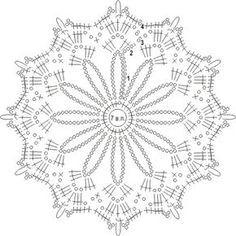 схема вязаного крючком ажурного узора из отдельных цветочных мотивов Crochet Snowflake Pattern, Crochet Mandala Pattern, Crochet Stars, Crochet Circles, Crochet Doily Patterns, Crochet Snowflakes, Crochet Diagram, Crochet Round, Thread Crochet
