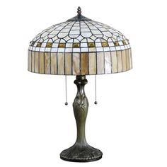 (EU Lager)Paradiesische Tischleuchte im Tiffany Stil Glas Schirm in 40cm Durchmesser