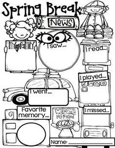 182 best classroom ideas images classroom classroom setup future Blurry Eye Chart spring break writing freebie grab this to help get through this busy time of year