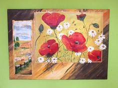 Maki Akryl, 50 x 70, ręcznie malowany na płótnie