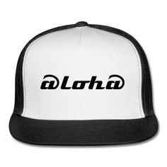 trucker hat, mens, aloha white/black 24.99