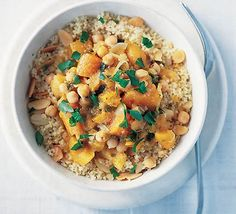 Vegetable tagine with toasted almond couscous